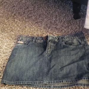 Guess jean mini skirt
